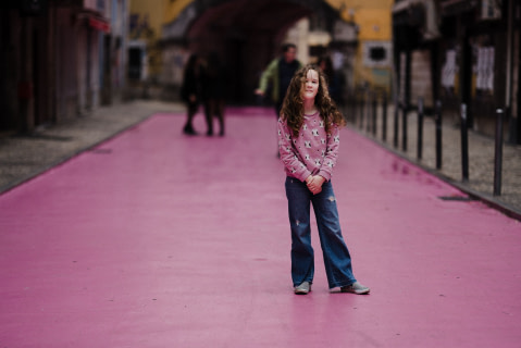 A Young Girl in Jeans